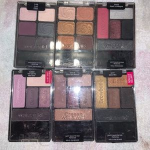 6 limited edition wet n wild eyeshadow